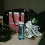 Daily supplies for a figure competitor on her way to work