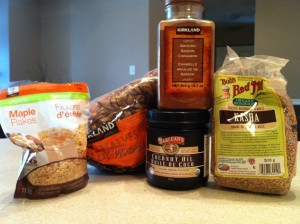 Spicy Maple Pecan Kasha Ingredients