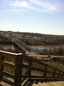 Edmonton River Valley beginning of spring