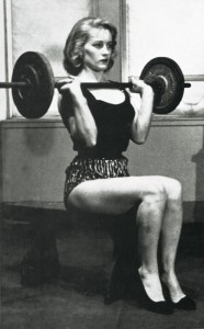 seated lady like shoulder press