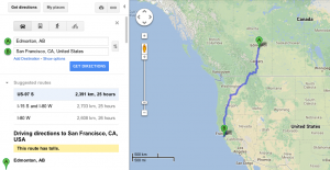 Yes...that says TWENTY-FIVE hours...to San Fran, not including the trek back to Redding. We are crazy.