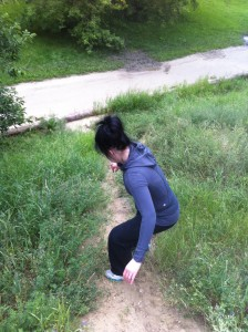 I was pretty sure the snake was chasing me down the hill...