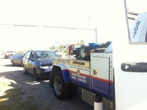 When your car dies on the trans-canada highway they come quick and bring friends!