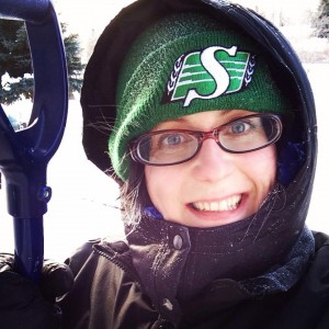 Shovelling snow drifts for an hour in the -30 weather is a great workout!