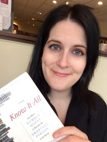 The book cover and I are basically the same color. I  proudly read library books in public while waiting for clients, the bus, my next appointment, or wherever I happen to be!