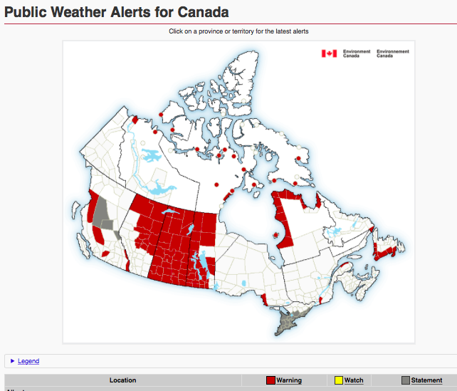 severe weather warning edmonton