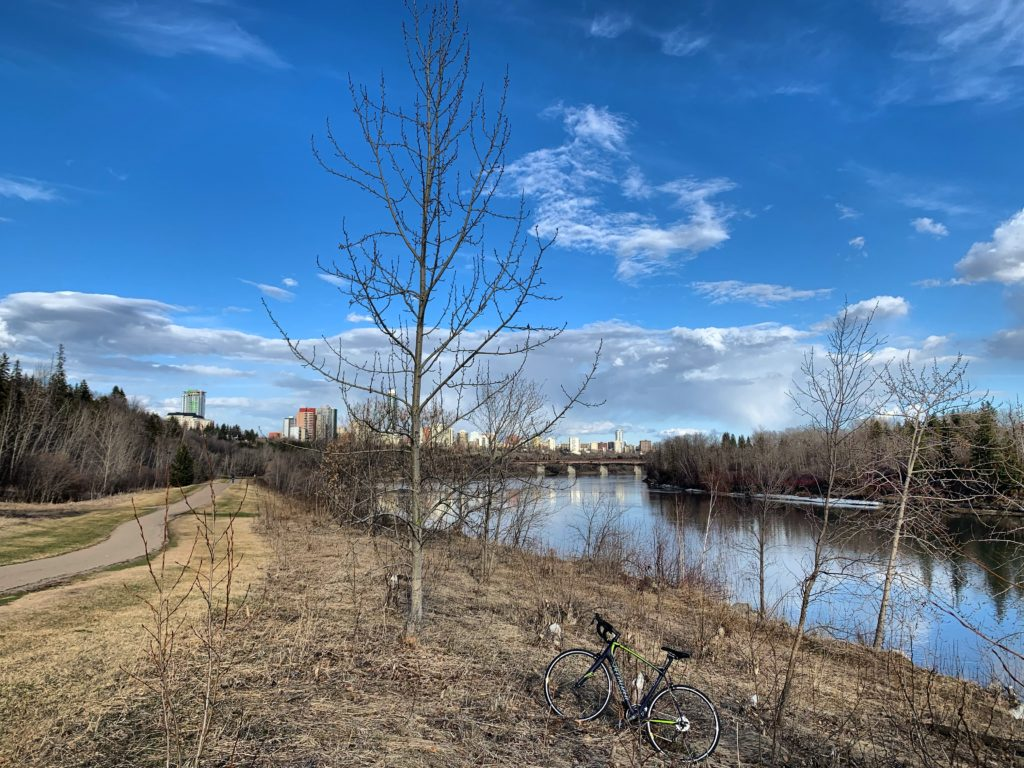 YEG River valley bike trail